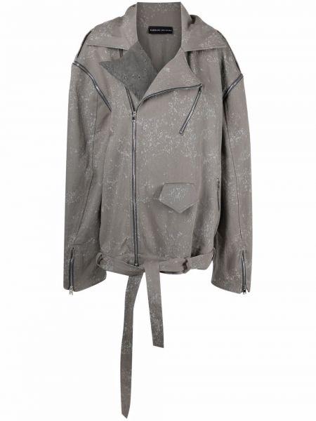 Ватная длинная куртка байкерская болоньевая Barbara Bologna