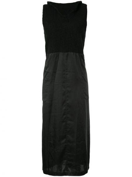 Шерстяное черное платье миди без рукавов винтажное Comme Des Garçons Pre-owned