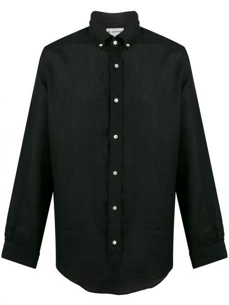 Czarna koszula z długimi rękawami Bluemint