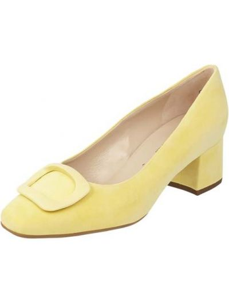 Czółenka skorzane - żółte Peter Kaiser