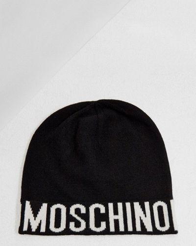 Черная шапка Moschino