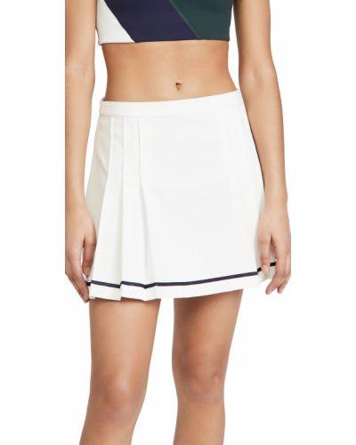 Теннисная белая плиссированная спортивная юбка Tory Sport
