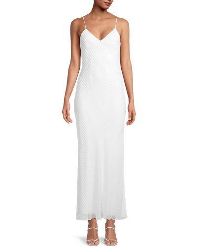 Biała sukienka w paski Dannijo