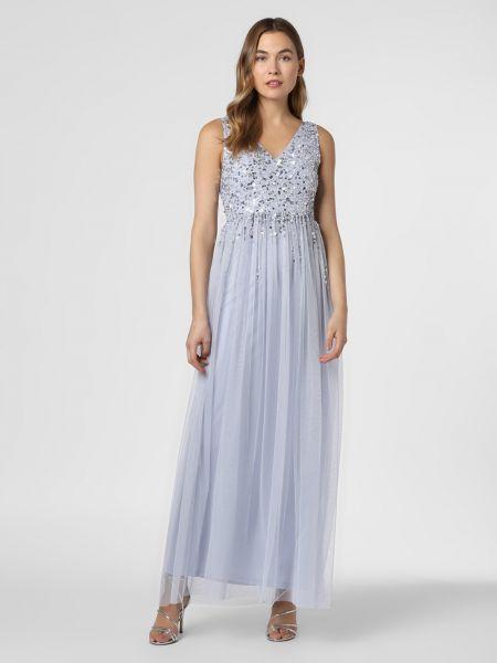 Niebieska sukienka wieczorowa elegancka z cekinami Lipsy