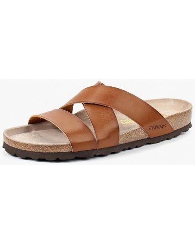 Коричневые кожаные сандалии Genuins