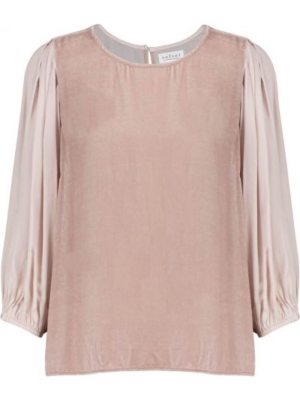 Bluzka z jedwabiu - różowa Velvet