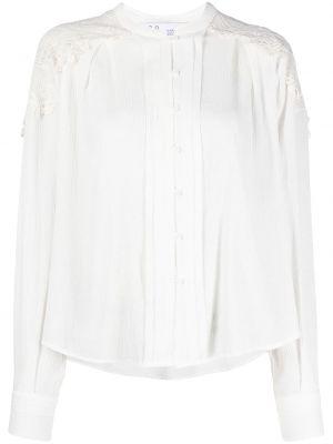 Кружевная белая блузка со вставками Iro