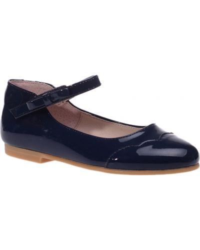 Туфли лаковые синие Jacadi Paris