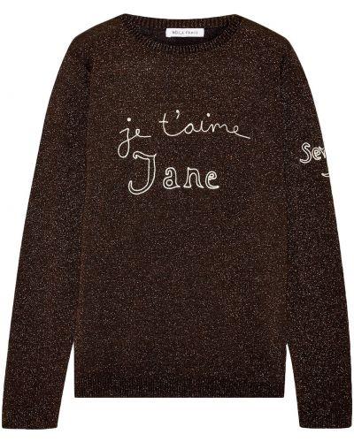 Шерстяной свитер с вышивкой Bella Freud