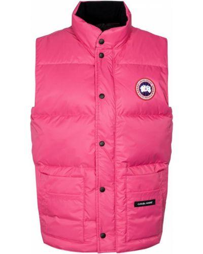 Розовая пуховая жилетка Canada Goose