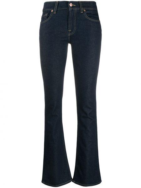 Классические хлопковые синие джинсы на молнии 7 For All Mankind