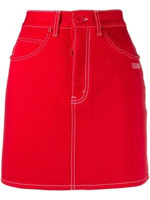 Юбка мини джинсовая на пуговицах Off-white