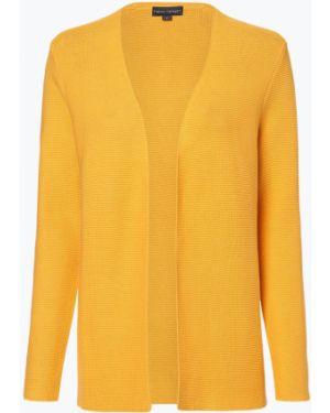 Żółty garnitur dzianinowy Franco Callegari
