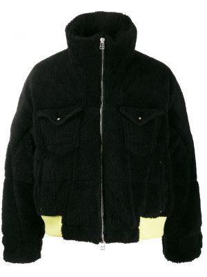 Czarna długa kurtka z długimi rękawami oversize Facetasm