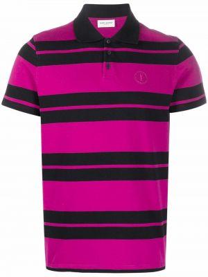 Koszula krótki rękaw - czarna Saint Laurent