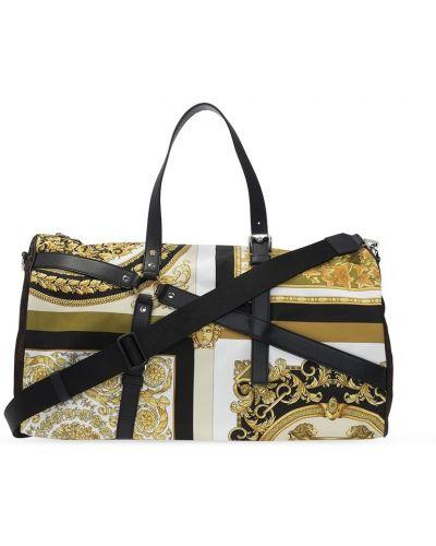 Brązowa torba na ramię Versace
