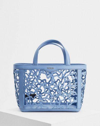 Кожаный сумка голубой Tous