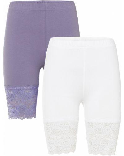 Кружевные велосипедки - фиолетовые Bonprix