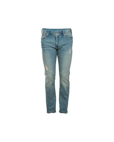 Голубые хлопковые джинсы Armani Jeans