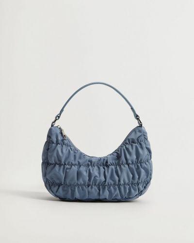 Niebieska torba z krótkimi uchwytami Mango