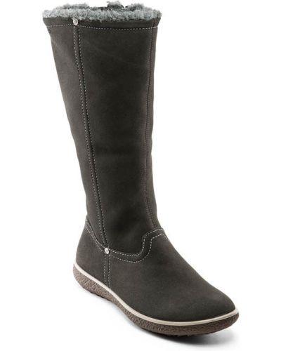 Зимние ботинки на каблуке замшевые Ecco