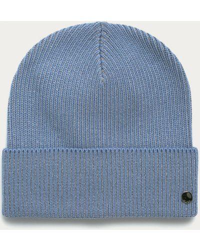 Niebieska czapka wełniana Hugo