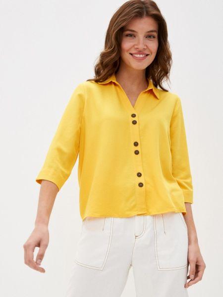 Блузка с длинным рукавом весенний желтый Defacto