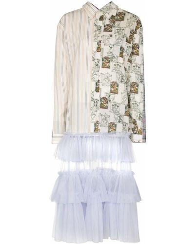 Платье миди с оборками с воротником на пуговицах Viktor & Rolf