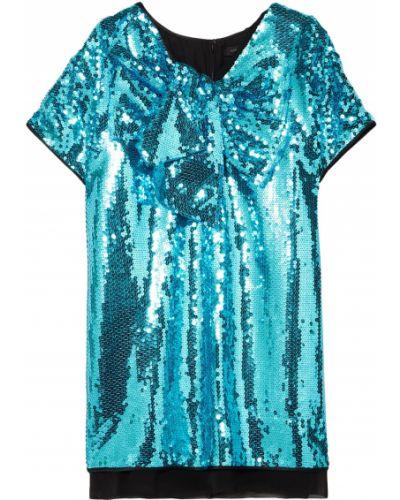 Шифоновое платье мини - бирюзовое Marc Jacobs