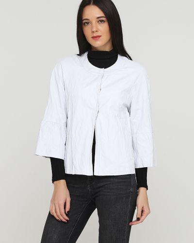 Кожаный пиджак - серый Lauren Vidal