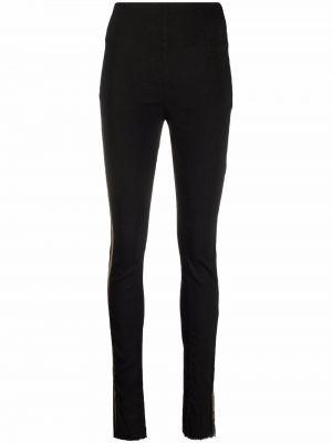 Зауженные черные брюки с накладными карманами Masnada