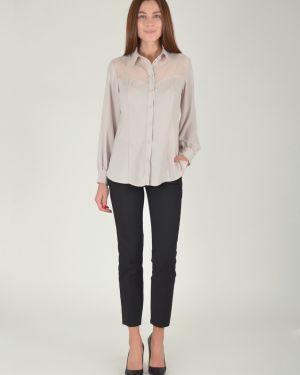 Блузка с кокеткой приталенная Viserdi
