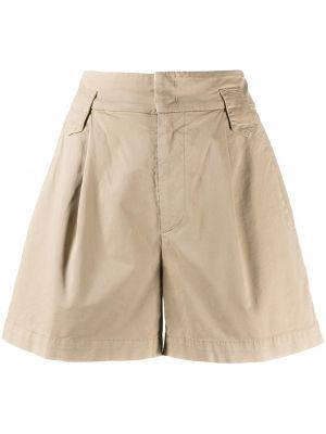 С завышенной талией хлопковые шорты карго с карманами Dondup