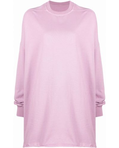 Розовое платье макси длинное Rick Owens Drkshdw