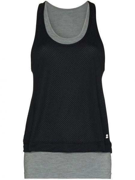 Czarna T-shirt z nadrukiem z printem Sweaty Betty