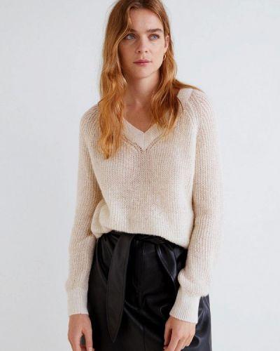 Бежевый пуловер Mango