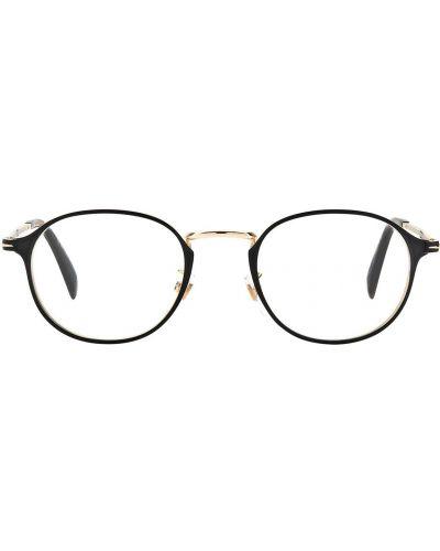 Złote czarne okulary Db Eyewear By David Beckham