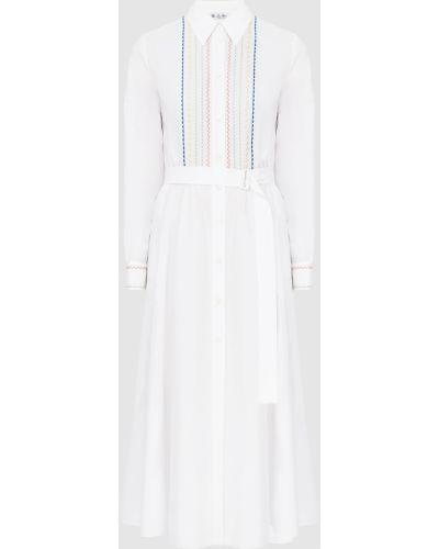 Белое платье макси Loro Piana