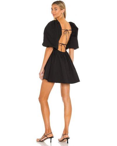 Хлопковое черное платье мини с подкладкой Lovers + Friends