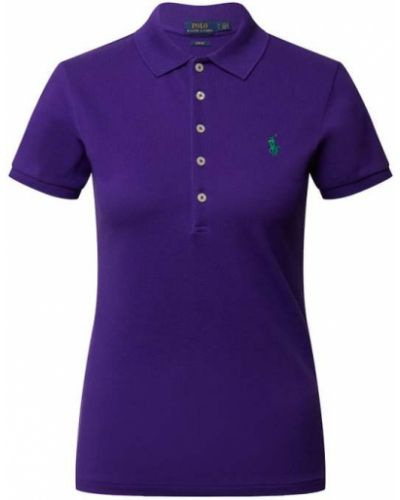 T-shirt bawełniana - fioletowa Polo Ralph Lauren