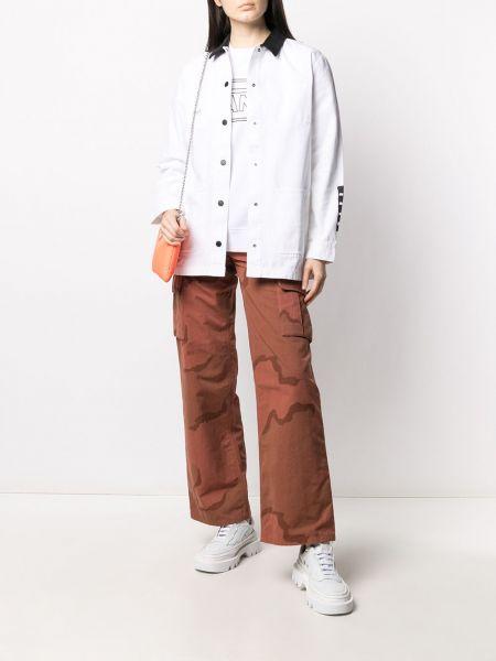 Ватная белая длинная куртка с воротником Vans