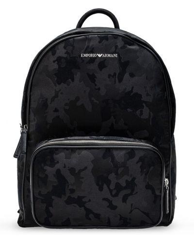 Czarny plecak sportowy Emporio Armani
