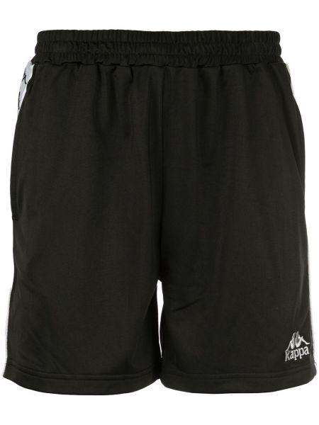 Спортивные шорты черные с вышивкой Kappa
