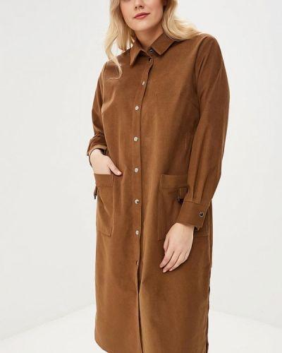 Платье - коричневое авантюра Plus Size Fashion