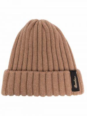 Brązowa czapka prążkowana Borsalino