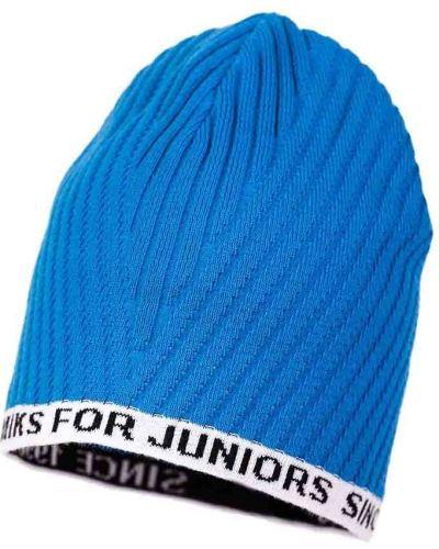Синяя шапка трикотажная Jamiks