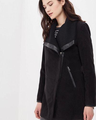 Черное пальто весеннее Softy