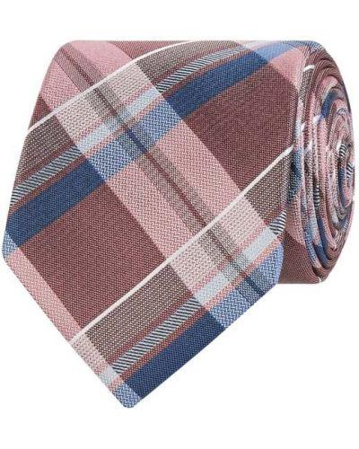 Różowy krawat w kratę Seidenfalter