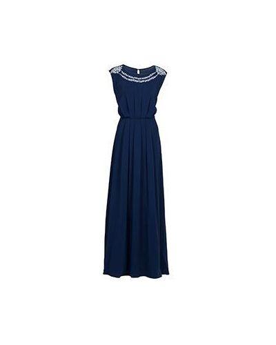 Вечернее платье из вискозы - синее Elisa Fanti