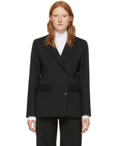 Черный удлиненный пиджак с подкладкой с воротником Won Hundred
